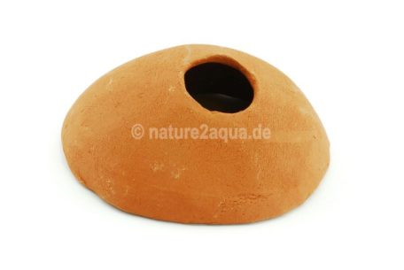 Igloo cave clay 14 cm entrance above Apistogramma terracotta