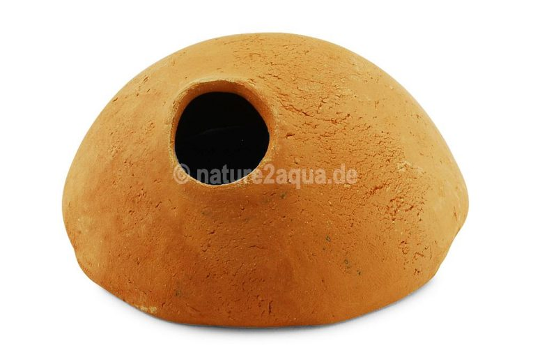 Igloo cave clay 9 cm entrance above Apistogramma terracotta