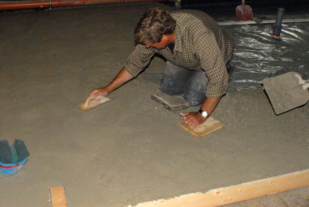 Neuer Raum Beton einbauen