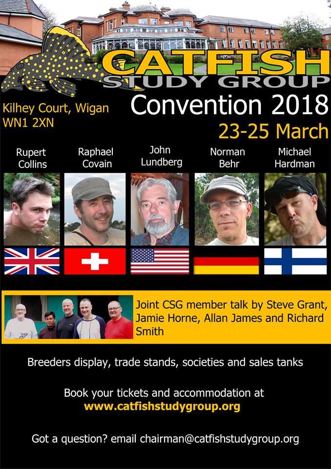 Plakat CSG Catfish-Study-Group-Convention 2018