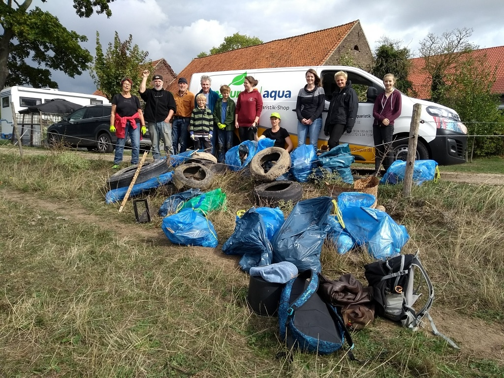 Rhine Clean Up Day 2018 nature2aqua Naturschutzzentrum Kreis Kleve Universität Köln