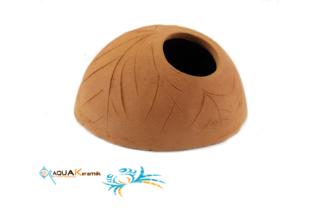 Aquakeramik Iglu-Höhle aus Ton für Cichliden Terracotta