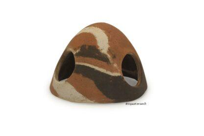 Froschiglu aus Ton 9 cm camouflage