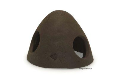 Froschiglu aus Ton 9 cm dunkelbraun