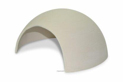 Iglu aus Ton für Axolotl 18 cm mit Toreingang weiß