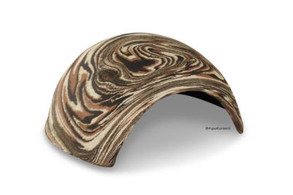 Iglu aus Ton für Axolotl 18 cm mit Toreingang camouflage