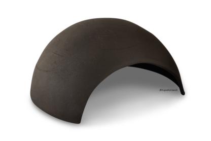 Iglu aus Ton für Axolotl 18 cm mit Toreingang schwarz