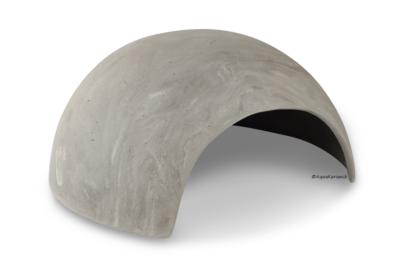 Iglu aus Ton für Axolotl 18 cm mit Toreingang vintage