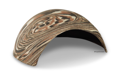 Iglu aus Ton für Axolotl 25 cm mit Toreingang camouflage