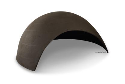 Iglu aus Ton für Axolotl 25 cm mit Toreingang schwarz
