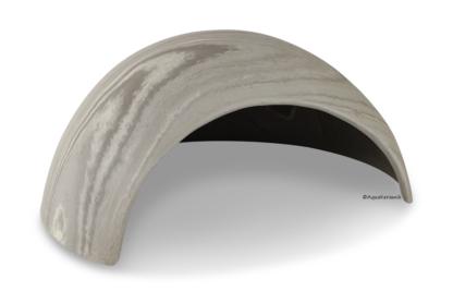 Iglu aus Ton für Axolotl 25 cm mit Toreingang vintage