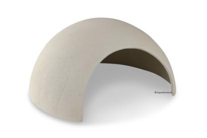 Iglu aus Ton für Axolotl 25 cm mit Toreingang weiß