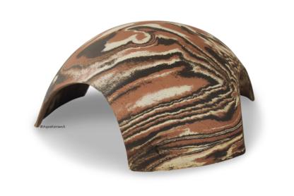 Iglu aus Ton für Axolotl 3 Eingänge 18 cm camouflage