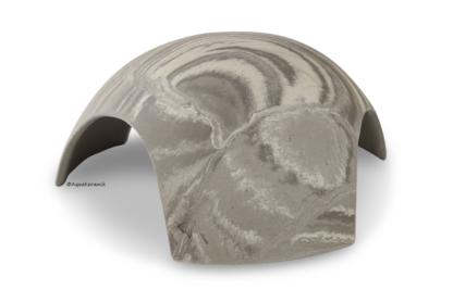 Iglu aus Ton für Axolotl 3 Eingänge 18 cm vintage