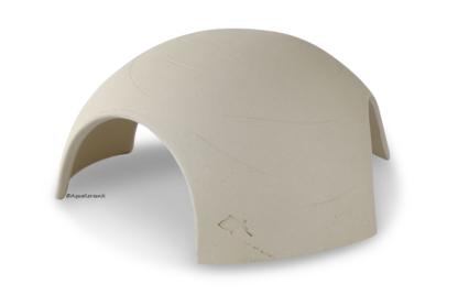 Iglu aus Ton für Axolotl 3 Eingänge 18 cm weiß