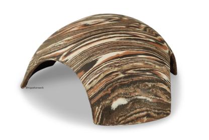Iglu aus Ton für Axolotl 3 Eingänge 25 cm camouflage