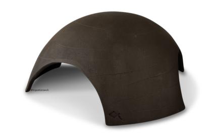 Iglu aus Ton für Axolotl 3 Eingänge 25 cm schwarz