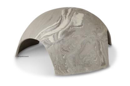 Iglu aus Ton für Axolotl 3 Eingänge 25 cm vintage