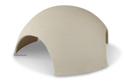 Iglu aus Ton für Axolotl 3 Eingänge 25 cm weiß